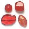 Lucite Assorted Large Beads Mix Cherry Quartz - 72 Grams